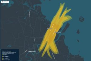 Brisbane flight paths