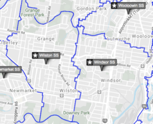 Brisbane School Catchment zones