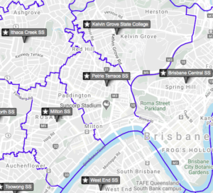 Brisbane School catchment zone